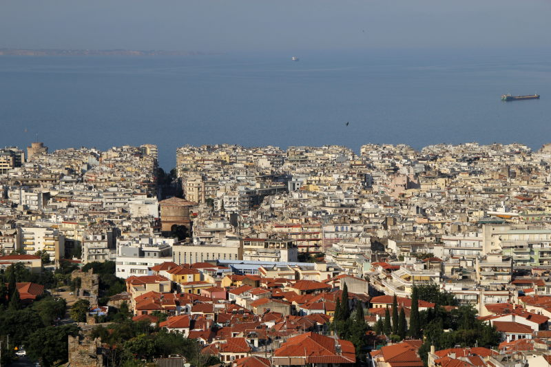 Blick auf Thessaloniki