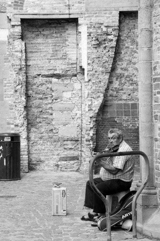 Musiker in Brügge
