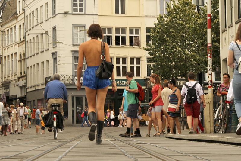 Straßenszene in Gent